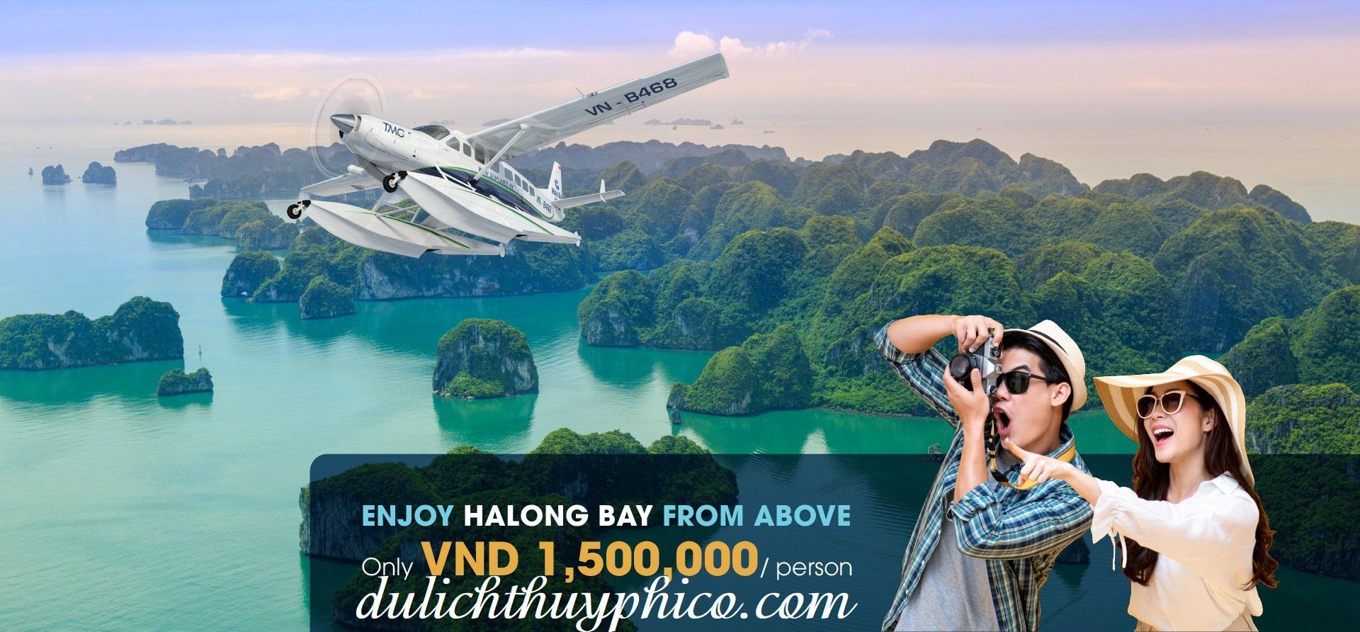 Tour du lịch Thủy Phi Cơ ngắm cảnh Vịnh Hạ Long 25 phút khuyến mại